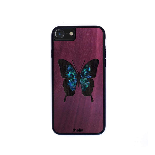 Thalia Phone Case Purpleheart & Blue Abalone Butterfly | Phone Case iPhone XS Max