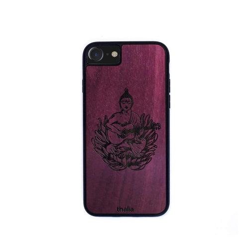 Thalia Phone Case Purpleheart & Buddha Engraving | Phone Case iPhone XS Max