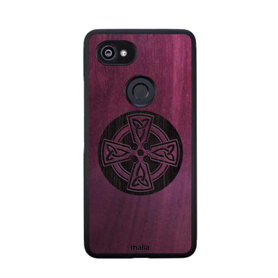 Thalia Phone Case Purpleheart & Celtic Cross Engraving | Phone Case Google Pixel 2XL