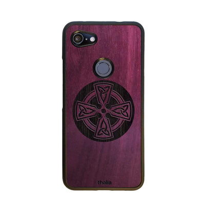 Thalia Phone Case Purpleheart & Celtic Cross Engraving | Phone Case Google Pixel 3aXL
