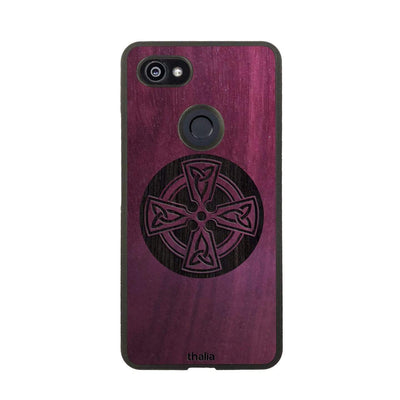 Thalia Phone Case Purpleheart & Celtic Cross Engraving | Phone Case Google Pixel 3XL