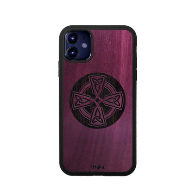 Thalia Phone Case Purpleheart & Celtic Cross Engraving | Phone Case iPhone 11