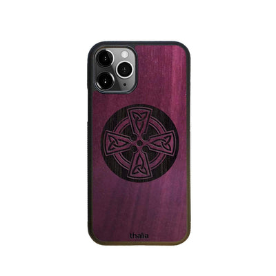 Thalia Phone Case Purpleheart & Celtic Cross Engraving | Phone Case iPhone 11 Pro