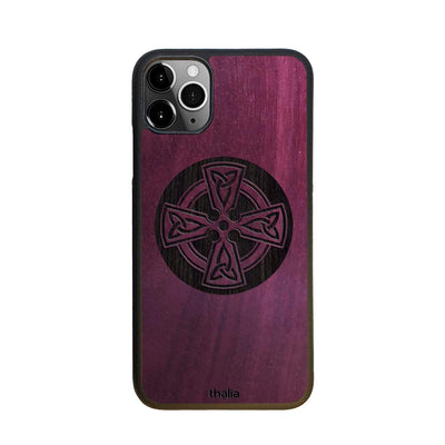 Thalia Phone Case Purpleheart & Celtic Cross Engraving | Phone Case iPhone 11 Pro Max