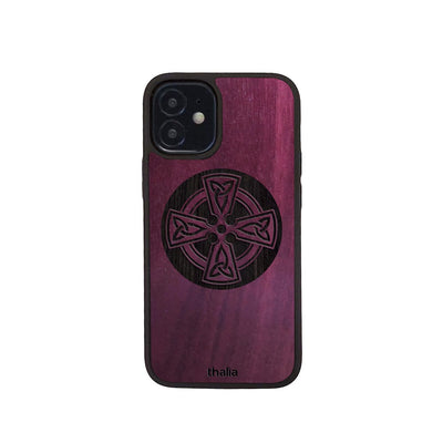Thalia Phone Case Purpleheart & Celtic Cross Engraving | Phone Case iPhone 12 mini