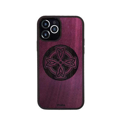 Thalia Phone Case Purpleheart & Celtic Cross Engraving | Phone Case iPhone 12 / Pro