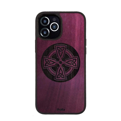 Thalia Phone Case Purpleheart & Celtic Cross Engraving | Phone Case iPhone 12 Pro Max