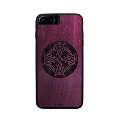 Thalia Phone Case Purpleheart & Celtic Cross Engraving | Phone Case iPhone 6/7/8 Plus