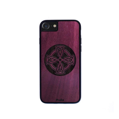 Thalia Phone Case Purpleheart & Celtic Cross Engraving | Phone Case iPhone 6/7/8/SE