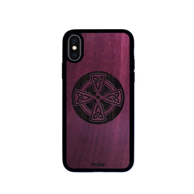 Thalia Phone Case Purpleheart & Celtic Cross Engraving | Phone Case iPhone X/XS