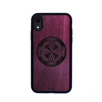 Thalia Phone Case Purpleheart & Celtic Cross Engraving | Phone Case iPhone XR