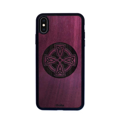 Thalia Phone Case Purpleheart & Celtic Cross Engraving | Phone Case iPhone XS Max