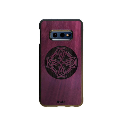 Thalia Phone Case Purpleheart & Celtic Cross Engraving | Phone Case Samsung Galaxy S10 E