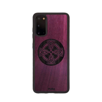 Thalia Phone Case Purpleheart & Celtic Cross Engraving | Phone Case Samsung Galaxy S20