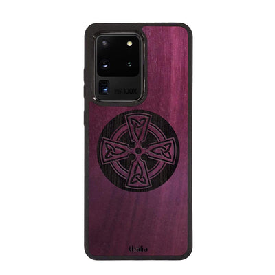 Thalia Phone Case Purpleheart & Celtic Cross Engraving | Phone Case Samsung Galaxy S20 Ultra
