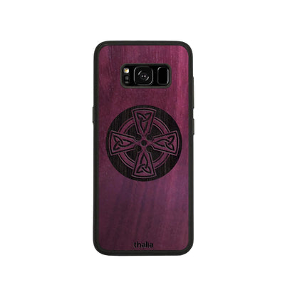 Thalia Phone Case Purpleheart & Celtic Cross Engraving | Phone Case Samsung Galaxy S8
