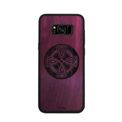 Thalia Phone Case Purpleheart & Celtic Cross Engraving | Phone Case Samsung Galaxy S8 Plus