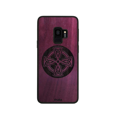 Thalia Phone Case Purpleheart & Celtic Cross Engraving | Phone Case Samsung Galaxy S9