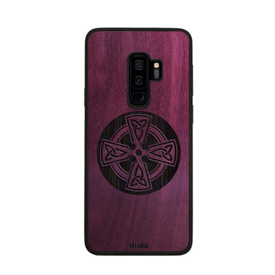 Thalia Phone Case Purpleheart & Celtic Cross Engraving | Phone Case Samsung Galaxy S9 Plus