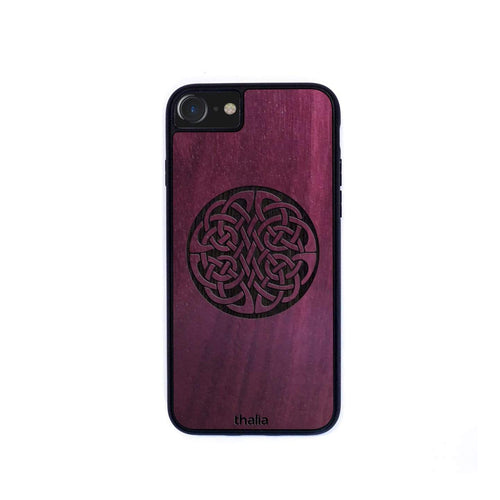 Thalia Phone Case Purpleheart & Celtic Knot Engraving | Phone Case iPhone XS Max