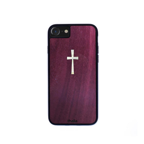 Thalia Phone Case Purpleheart & Cross MOP | Phone Case iPhone XS Max