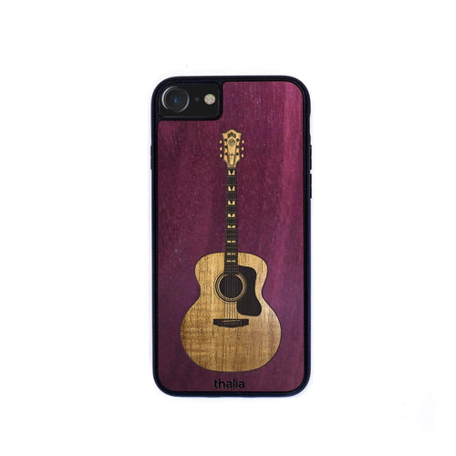 Thalia Phone Case Purpleheart & Guild F-55 Hawaiian Koa Inlaid Guitar | Phone Case iPhone XS Max