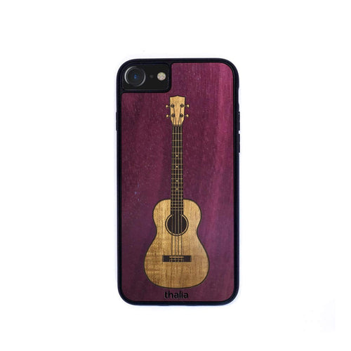 Thalia Phone Case Purpleheart & Hawaiian Koa Inlaid Ukulele | Phone Case iPhone XS Max