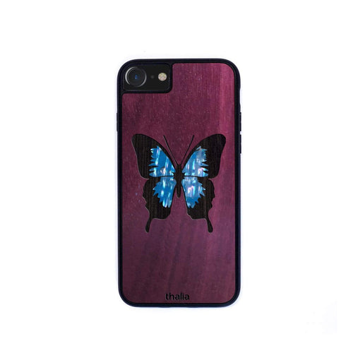 Thalia Phone Case Purpleheart & Maya Blue Abalone Butterfly | Phone Case iPhone XS Max