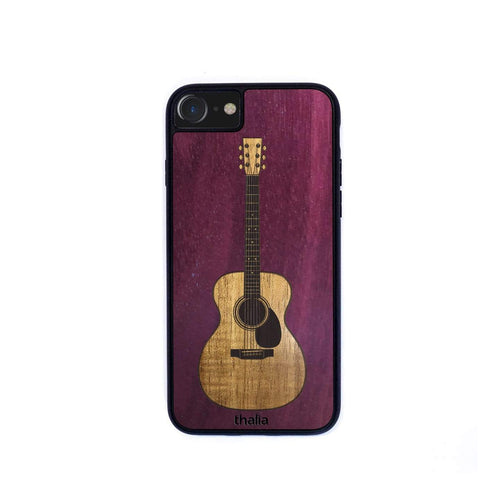 Thalia Phone Case Purpleheart & OM Hawaiian Koa Inlaid Guitar | Phone Case iPhone XS Max