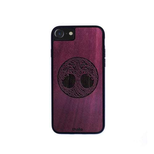 Thalia Phone Case Purpleheart & Tree of Life Engraving | Phone Case iPhone XS Max