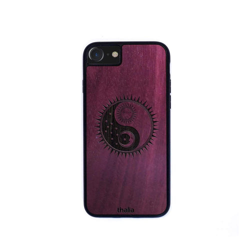 Thalia Phone Case Purpleheart & YinYang Night & Day Engraving | Phone Case iPhone XS Max