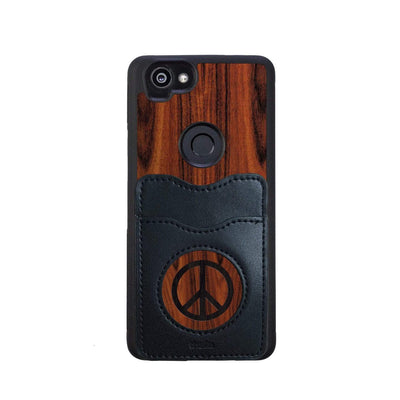 Thalia Phone Case Santos Rosewood & Peace Sign Inked | Wallet Phone Case Google Pixel 2