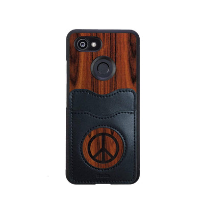 Thalia Phone Case Santos Rosewood & Peace Sign Inked | Wallet Phone Case Google Pixel 3