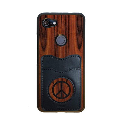 Thalia Phone Case Santos Rosewood & Peace Sign Inked | Wallet Phone Case Google Pixel 3aXL
