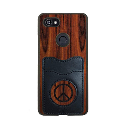 Thalia Phone Case Santos Rosewood & Peace Sign Inked | Wallet Phone Case Google Pixel 3XL