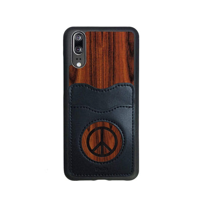 Thalia Phone Case Santos Rosewood & Peace Sign Inked | Wallet Phone Case Huawei P20