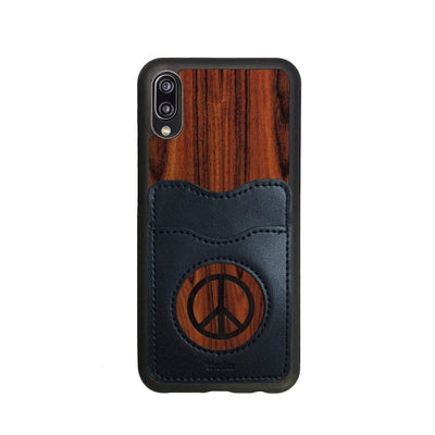 Thalia Phone Case Santos Rosewood & Peace Sign Inked | Wallet Phone Case Huawei P20 Lite