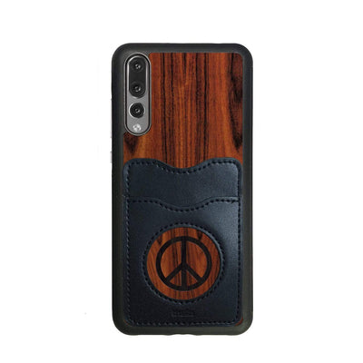 Thalia Phone Case Santos Rosewood & Peace Sign Inked | Wallet Phone Case Huawei P20 Pro