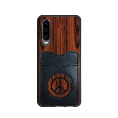 Thalia Phone Case Santos Rosewood & Peace Sign Inked | Wallet Phone Case Huawei P30