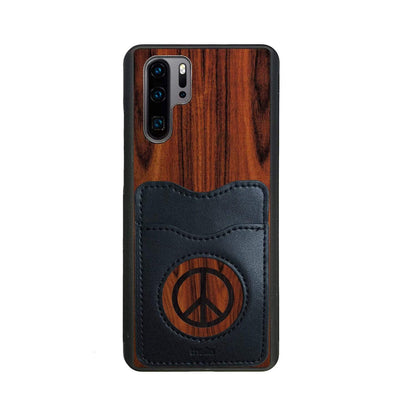Thalia Phone Case Santos Rosewood & Peace Sign Inked | Wallet Phone Case Huawei P30 Pro