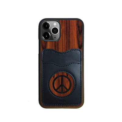 Thalia Phone Case Santos Rosewood & Peace Sign Inked | Wallet Phone Case iPhone 11 Pro