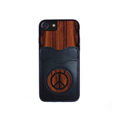 Thalia Phone Case Santos Rosewood & Peace Sign Inked | Wallet Phone Case iPhone 6/7/8
