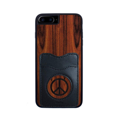 Thalia Phone Case Santos Rosewood & Peace Sign Inked | Wallet Phone Case iPhone 6/7/8 Plus