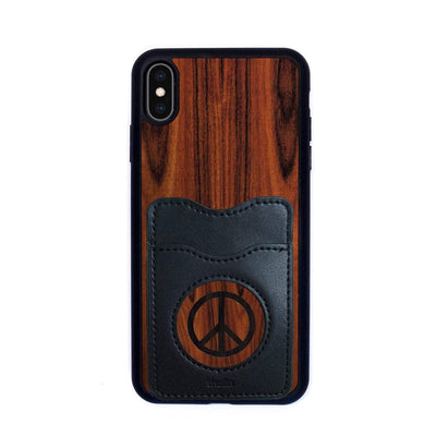 Thalia Phone Case Santos Rosewood & Peace Sign Inked | Wallet Phone Case iPhone XS Max