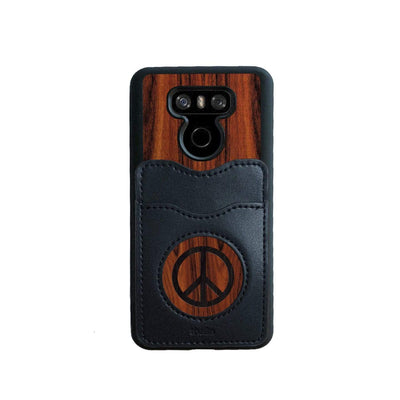 Thalia Phone Case Santos Rosewood & Peace Sign Inked | Wallet Phone Case LG G6