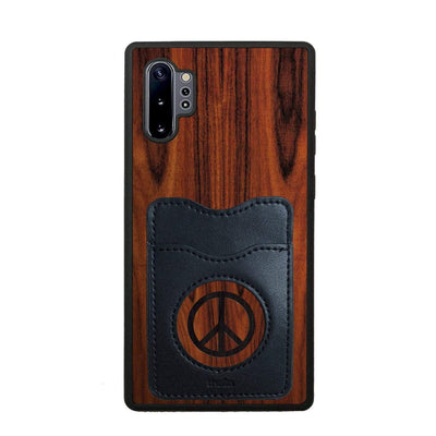 Thalia Phone Case Santos Rosewood & Peace Sign Inked | Wallet Phone Case Samsung Galaxy Note 10