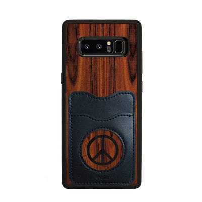 Thalia Phone Case Santos Rosewood & Peace Sign Inked | Wallet Phone Case Samsung Galaxy Note 8
