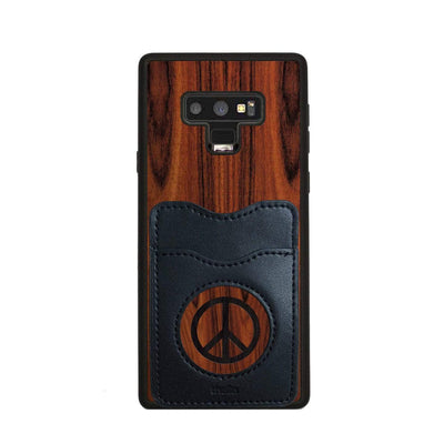 Thalia Phone Case Santos Rosewood & Peace Sign Inked | Wallet Phone Case Samsung Galaxy Note 9