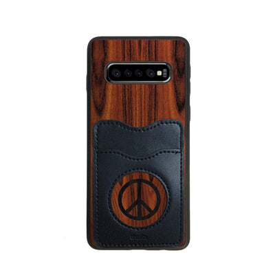 Thalia Phone Case Santos Rosewood & Peace Sign Inked | Wallet Phone Case Samsung Galaxy S10