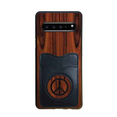 Thalia Phone Case Santos Rosewood & Peace Sign Inked | Wallet Phone Case Samsung Galaxy S10 5G